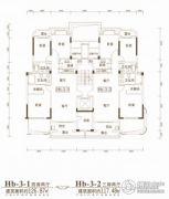 联投金色港湾3室2厅2卫117平方米户型图