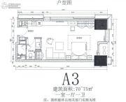 华远华中心1室1厅1卫70--75平方米户型图