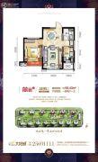 碧桂园太阳城1室2厅1卫59平方米户型图