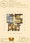 龙溪御庭3室2厅2卫142平方米户型图