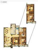 德辉天玺湾3室2厅2卫93平方米户型图