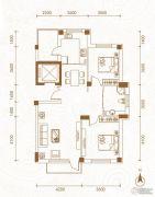 运通叁�第2室2厅1卫98平方米户型图