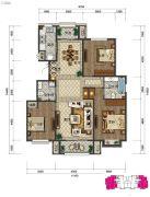 中湖・珐琅印3室2厅2卫0平方米户型图