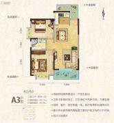罗马中心城2室2厅1卫89平方米户型图
