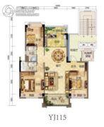碧桂园・贵安1号4室2厅2卫0平方米户型图