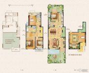 荣里4室2厅3卫143平方米户型图