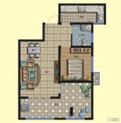 京熙帝景优+公馆2室1厅1卫76平方米户型图