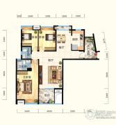 怡景江南3室2厅2卫118平方米户型图
