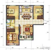 海亮滨河壹号3室2厅1卫95平方米户型图