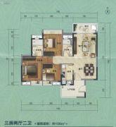 大夫山尚东3室2厅2卫106平方米户型图
