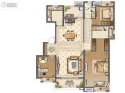 中海九玺3室2厅2卫143平方米户型图