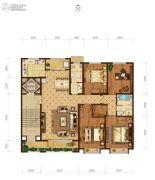 瀚唐4室2厅2卫200平方米户型图