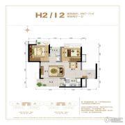 鲁能山海天2室2厅1卫67--71平方米户型图