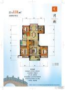 碧桂园西江月4室2厅2卫0平方米户型图
