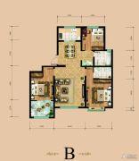 东岳国际3室2厅2卫121平方米户型图