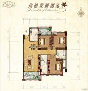 益通・枫情尚城3室2厅2卫118平方米户型图