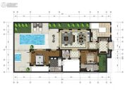 中交绿城高福小镇2室2厅1卫126平方米户型图