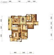 富力十号3室2厅2卫137平方米户型图