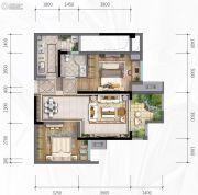 新城悦隽风华2室2厅1卫0平方米户型图