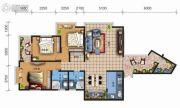 天地之间广福郡3室2厅2卫138平方米户型图