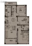锦泰公寓3室2厅2卫96平方米户型图