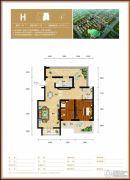 水钢琴2室2厅1卫84平方米户型图