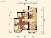 昆明・恒大名都3室2厅2卫125平方米户型图