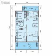 华润小径湾二期2室2厅2卫103平方米户型图