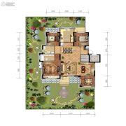 金地檀悦4室2厅2卫146平方米户型图