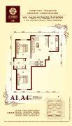 华溪龙城二期2室2厅1卫88平方米户型图
