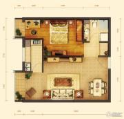 玺源台1室1厅1卫65平方米户型图