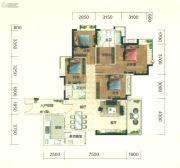 佛山富力广场4室2厅2卫145平方米户型图