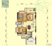 天鹅湾2室2厅1卫84平方米户型图