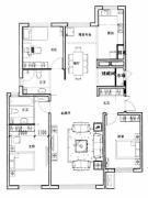 新星宇和源3室2厅2卫140平方米户型图