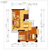 磁湖南郡3室2厅1卫83平方米户型图