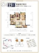 融创春晖十里2室2厅2卫0平方米户型图