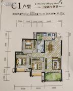 神州南都三期3室2厅1卫99平方米户型图