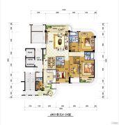 梅岭观海4室2厅2卫220平方米户型图