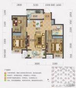 保利・茉莉公馆3室2厅1卫85平方米户型图