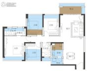 恒地悦山湖4室2厅2卫120平方米户型图