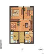 绍兴国际财富中心2室2厅1卫68平方米户型图