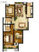 国金华府3室2厅2卫0平方米户型图