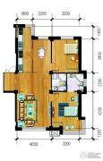 万泉・欧博城2室2厅2卫106平方米户型图