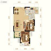 中亿阳明山水1室2厅1卫55平方米户型图