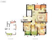 宏泰风花树4室2厅2卫115平方米户型图