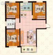 富泰城3室1厅1卫117平方米户型图