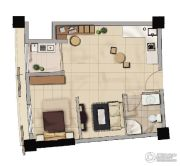天祥海景城1室2厅1卫0平方米户型图