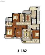 方远天韵水岸4室2厅2卫182平方米户型图