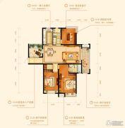 金鹰国际城3室2厅2卫140平方米户型图