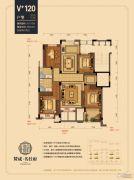 赞成名仕府4室2厅2卫116平方米户型图